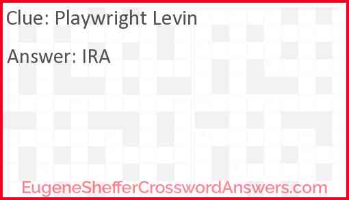 Playwright Levin Answer
