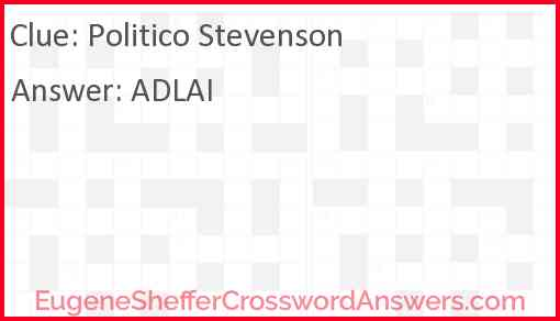 Politico Stevenson Answer