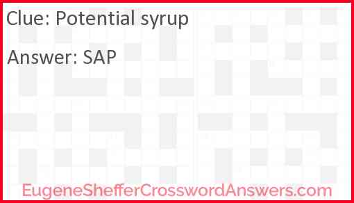 Potential syrup Answer