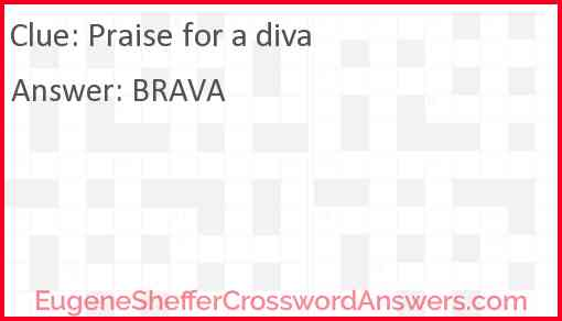 Praise for a diva Answer
