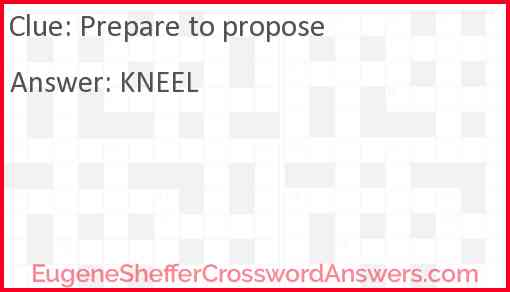 Prepare to propose Answer