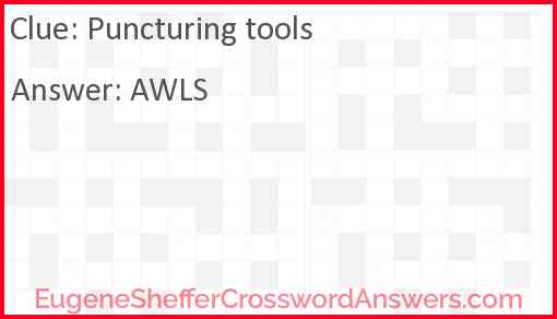 Puncturing tools Answer