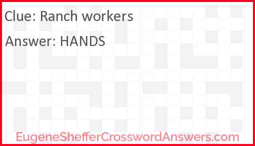 Ranch workers Answer