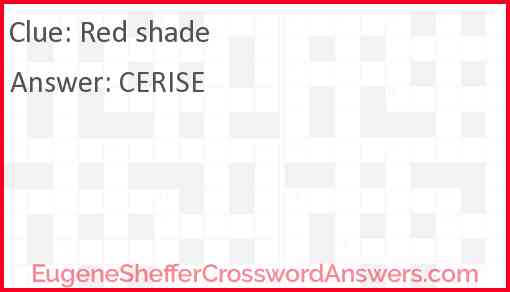 Red shade Answer