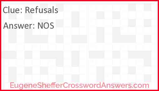 Refusals Answer