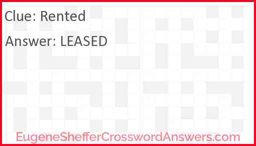 Rented Answer