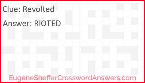 Revolted Answer