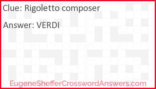 Rigoletto composer Answer