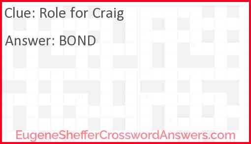 Role for Craig Answer