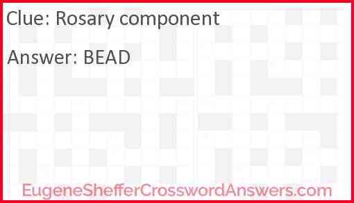 Rosary component Answer