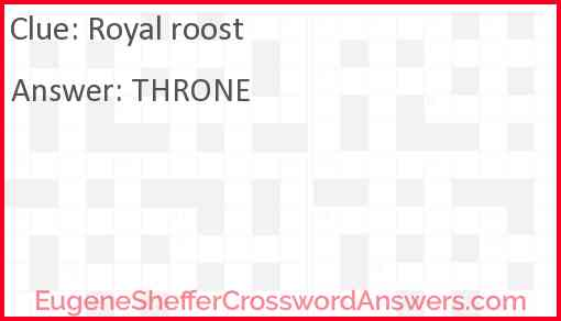 Royal roost Answer