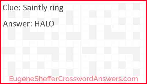 Saintly ring Answer