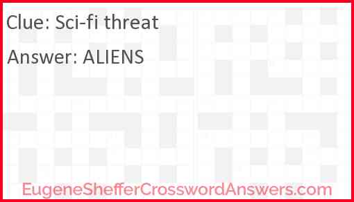 Sci-fi threat Answer