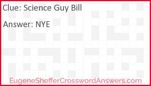 Science guy Bill Answer