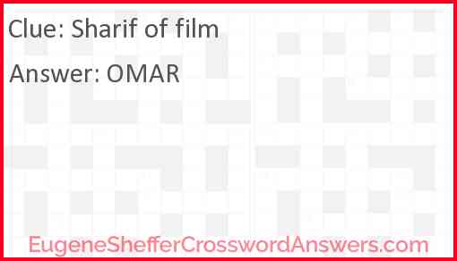 Sharif of film Answer