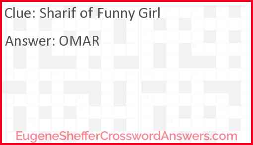 Sharif of Funny Girl Answer