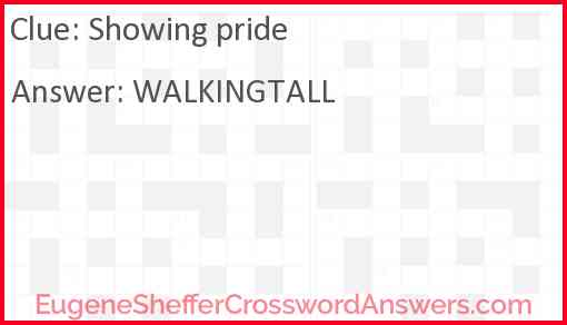 Showing pride Answer