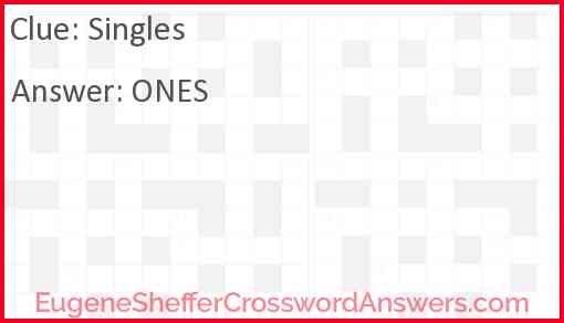 Singles Answer
