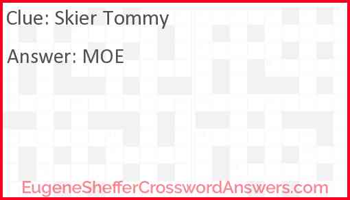 Skier Tommy Answer