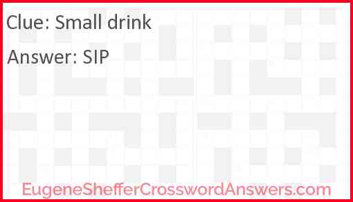 Small drink Answer