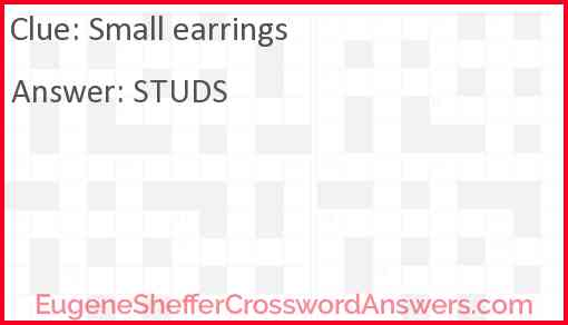 Small earrings Answer