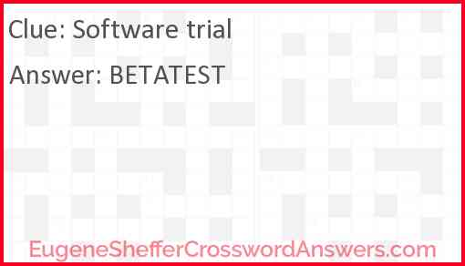 Software trial Answer