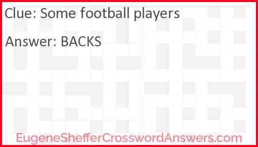 Some football players Answer