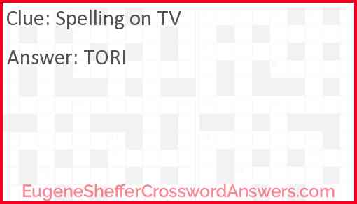 Spelling on TV Answer