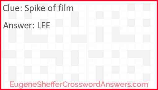 Spike of film Answer