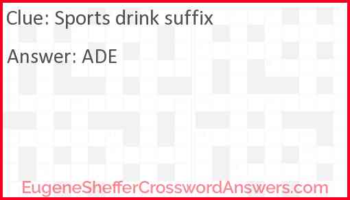 Sports drink suffix Answer