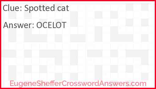 Spotted cat Answer