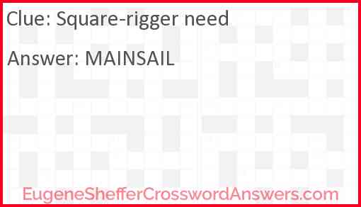 Square-rigger need Answer