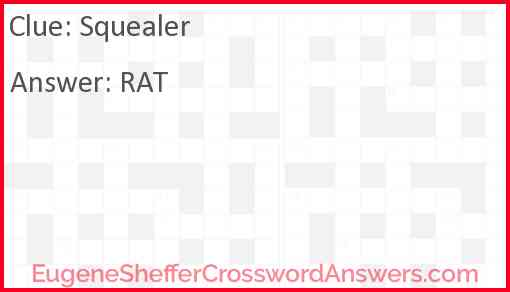 Squealer Answer