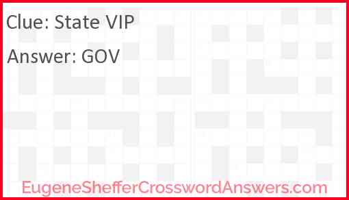 State VIP Answer