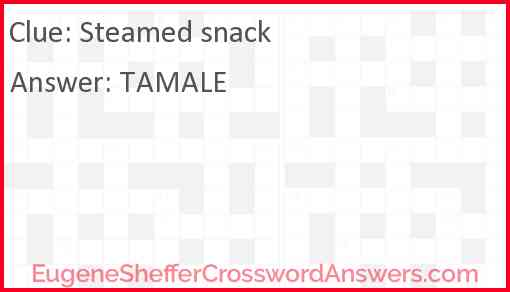 Steamed snack Answer