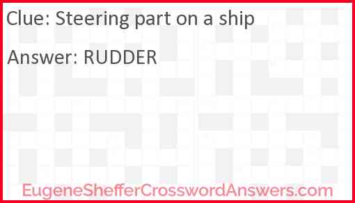 Steering part on a ship Answer