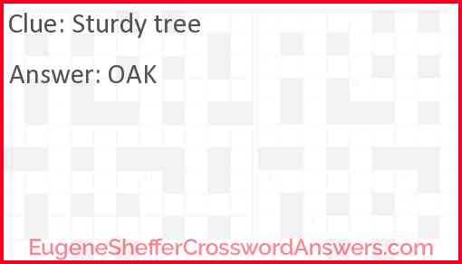 Sturdy tree Answer