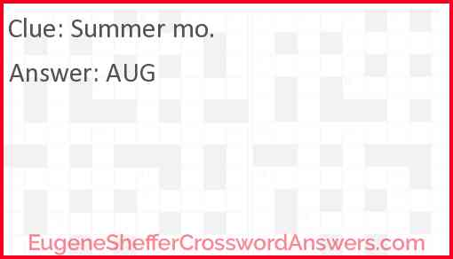 Summer mo. Answer