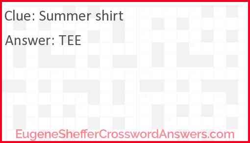Summer shirt Answer