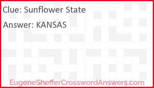 Sunflower State Answer