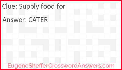 Supply food for Answer