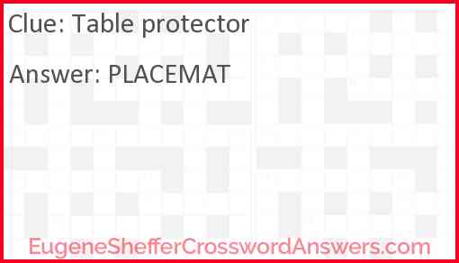 Table protector Answer
