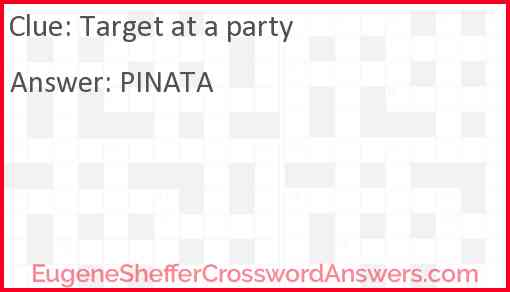 Target at a party Answer