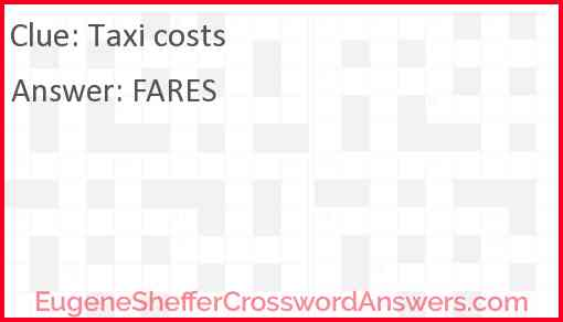Taxi costs Answer