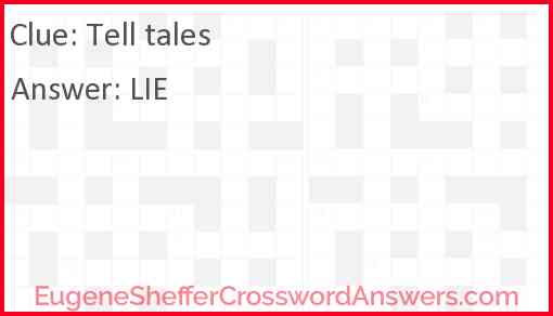 Tell tales Answer