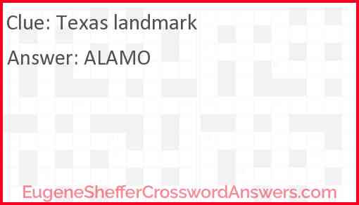 Texas landmark Answer