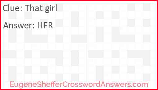 That girl Answer