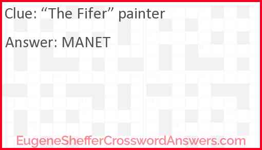 """""""The Fifer"""" painter Answer"""