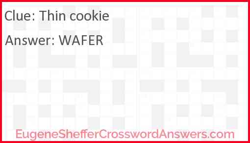 Thin cookie Answer