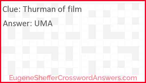Thurman of film Answer